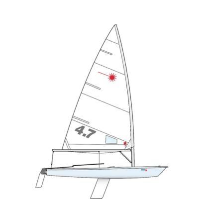 LASER RACE 4.7 hajó