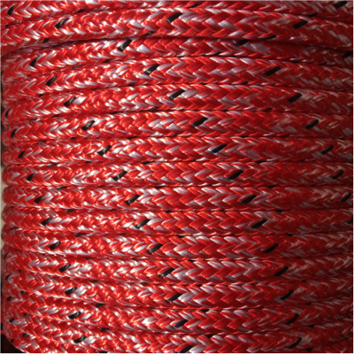 MARLOW D/BRAID PES 6mm MARBLE RED