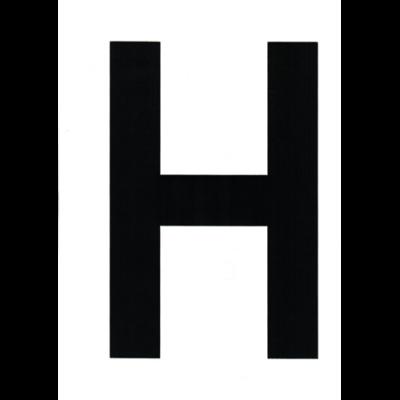 """VITORLASZÁM 235 mm FEKETE """"H"""""""