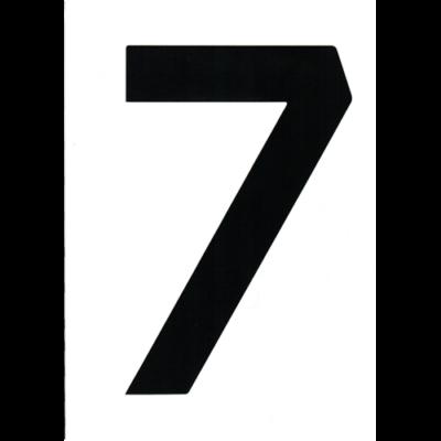 """VITORLASZÁM 235 mm FEKETE """"7"""""""