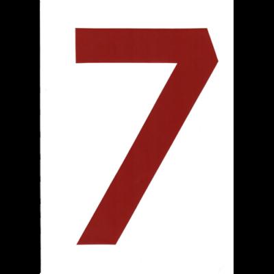 """VITORLASZÁM 235 mm PIROS """"7"""""""
