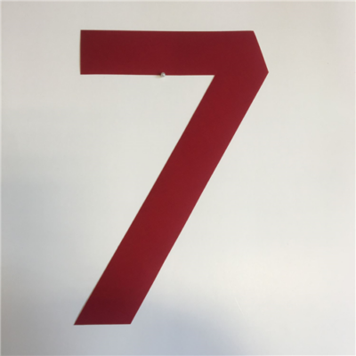 VITORLASZÁM 235mm 7 piros