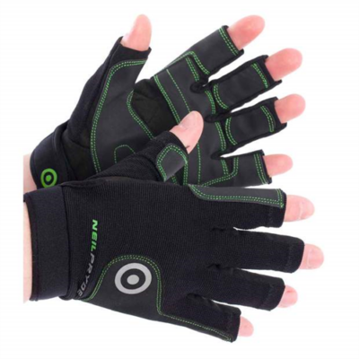 NEIL PRYDE REGATTA GLOVE HALF FINGER - BLACK - L